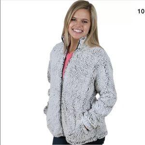 NWT boxercraft frosty/smokey grey Sherpa jacket -M